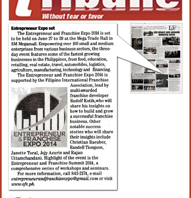 The Daily Tribune: Entrepreneur Expo Set