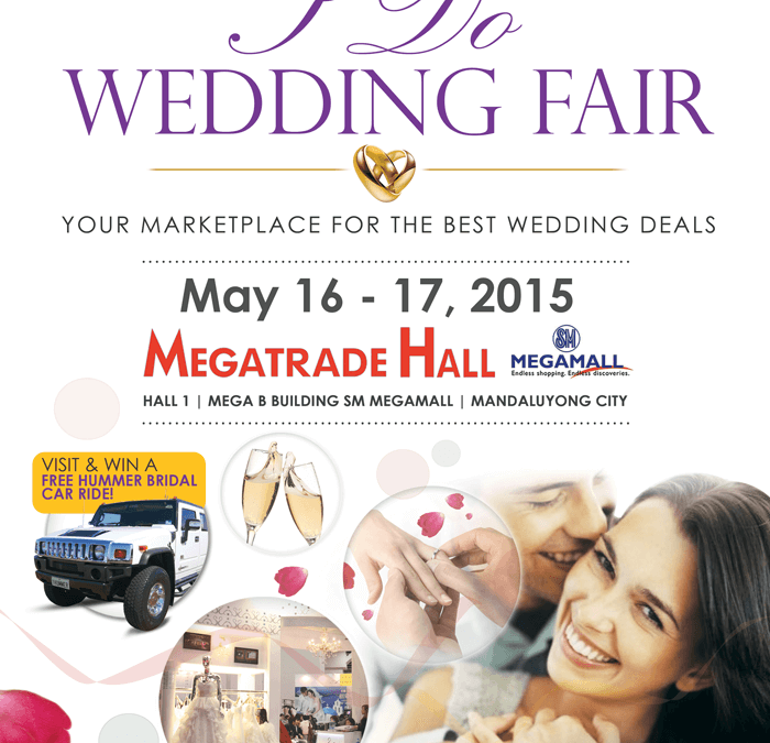 I DO WEDDING FAIR 2015 – Your Marketplace for the Best Wedding Deals launches May 16, 2015