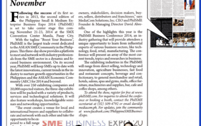 Expat Newspaper: 2nd Philippine Business Expo Set In November