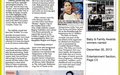 Philippine Star: Baby and Family Awards Winners Named